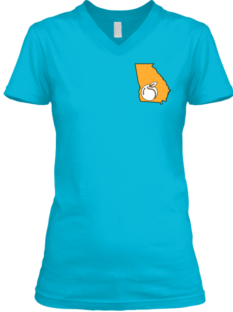 "Georgia ""Anchor"" Women's Tee  Turquoise T-Shirt Front"
