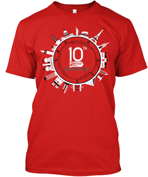 10th Pentax Anniversary Red T-Shirt Front