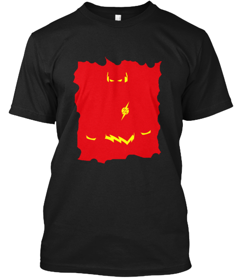 Flash Tee Black T-Shirt Front
