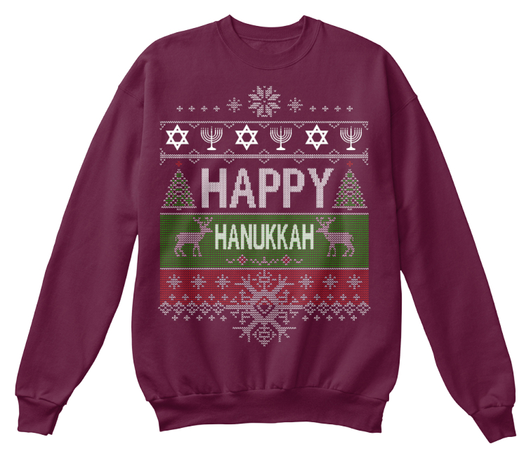 Jewish Christmas Sweater.Happy Hanukkah Ugly Jewish Sweater Shirt