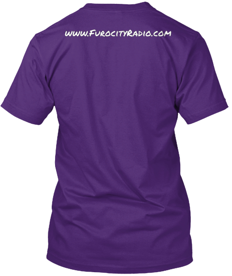 Www.Furocityradio.Com Purple T-Shirt Back