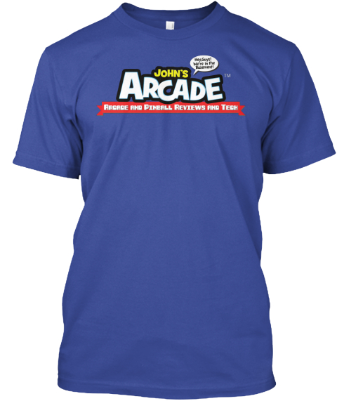 John's Arcade Arcade And Pinball Reviews And Tech Deep Royal T-Shirt Front