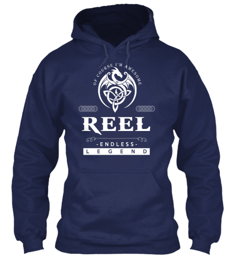 Of Course I'm Awesome Reel Endless Legend Navy Sweatshirt Front