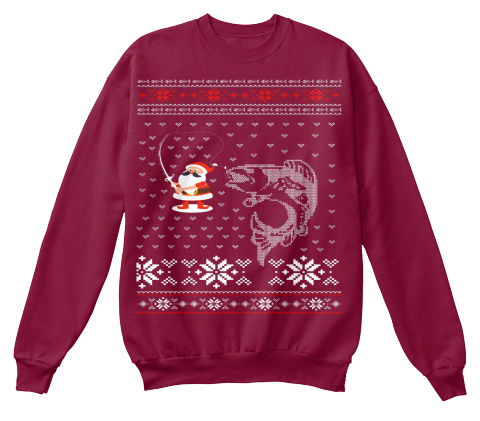 Christmas fishing ugly sweater products from raiyan for Fishing ugly christmas sweater