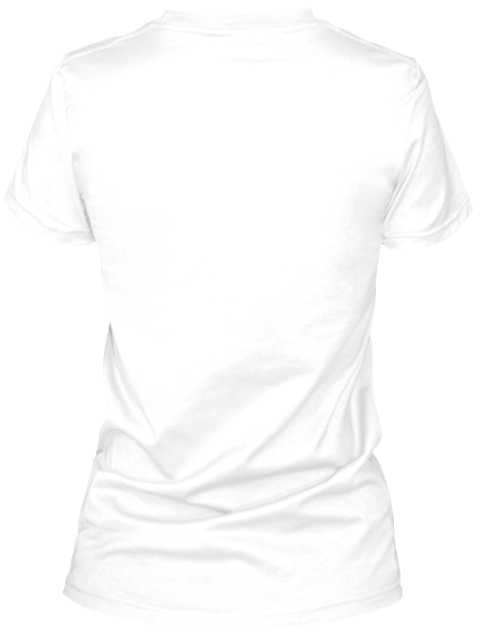 Queen White T-Shirt Back