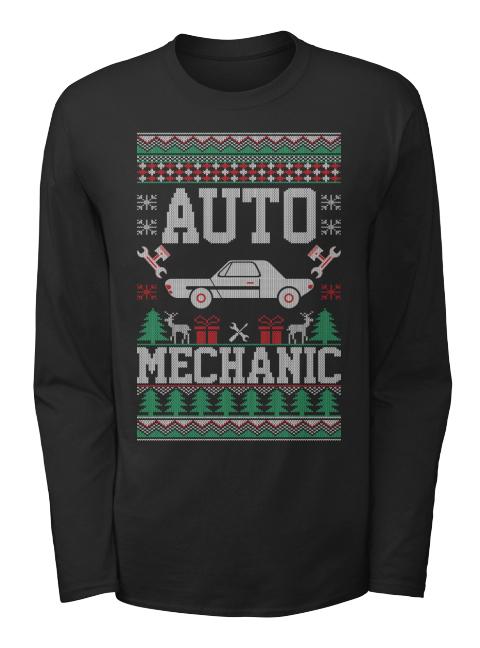 Auto Mechanic Ugly Christmas Long Sleeve Auto Mechanic