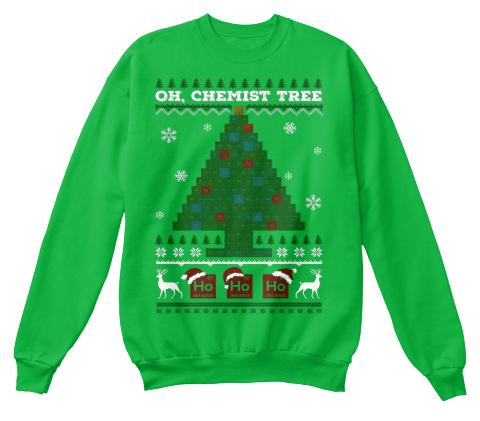 Oh Chemistry Tree Ugly Christmas Sweater - oh chemist tree ho ho ...