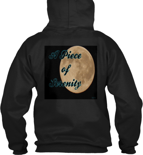 A Piece Of Serenity Black T-Shirt Back
