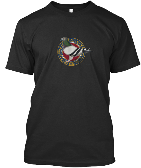 Office Of Hack Education Minus Columbae Black T-Shirt Front