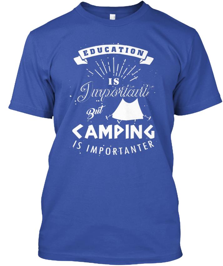 Casual camping est importanter-éducation important mais Unisexe Standard Unisexe mais T-Shirt d01bf3