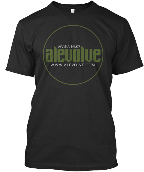 Wanna Talk Alevolve Www.Alevolve.Com Black T-Shirt Front