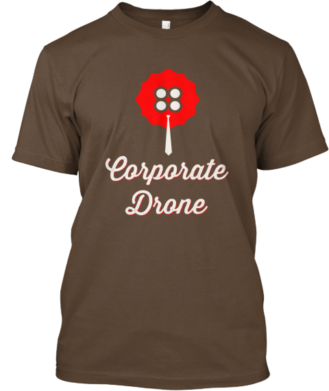 Ottawa Drones   Corporate Drone Tee Army T-Shirt Front