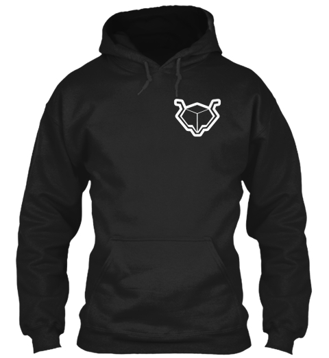 Classic Pocket Hoodie™  Black T-Shirt Front