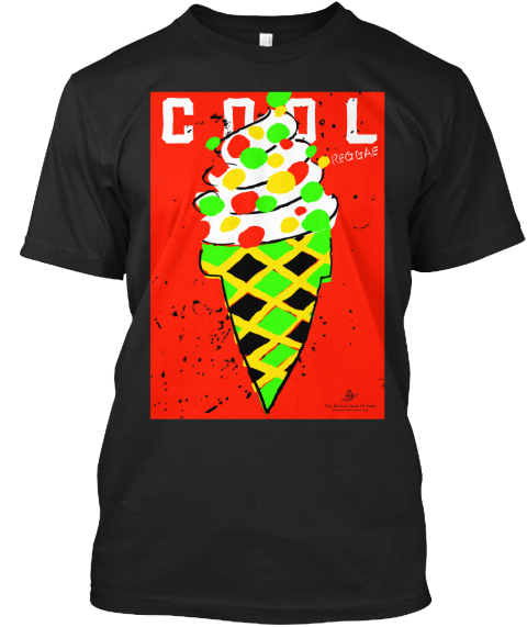Cool Reggae Black T-Shirt Front