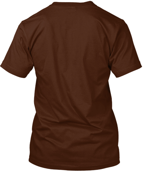 Robots Are Cool T Shirt Brown T-Shirt Back