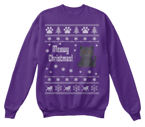 merry christmas purple sweatshirt front