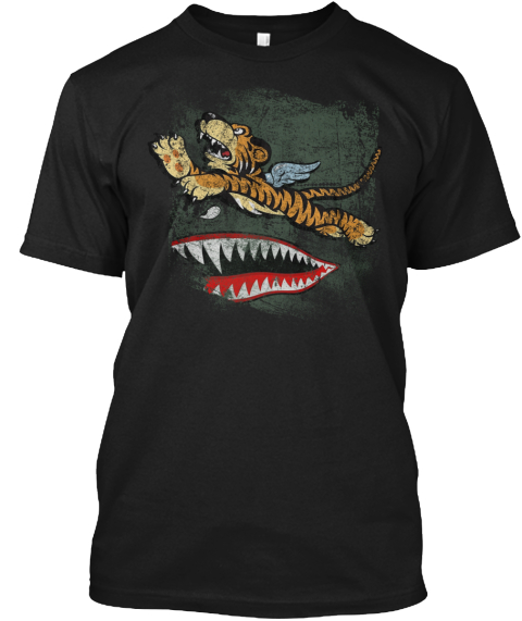 Avg Flying Tigers Black T-Shirt Front