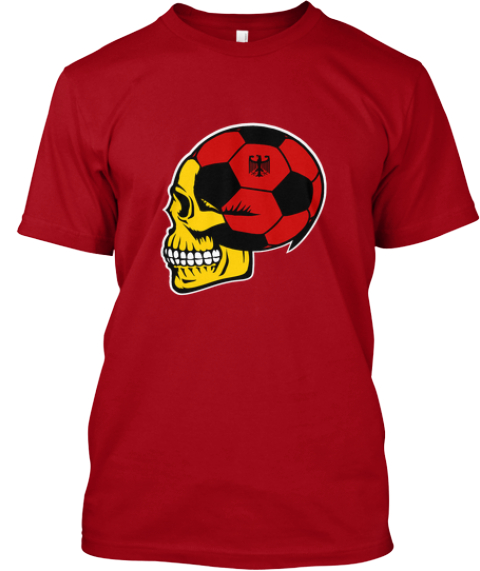 German Football   Limited Edition Deep Red T-Shirt Front