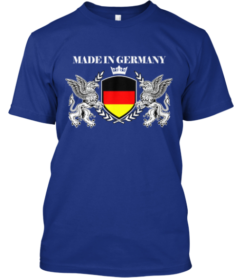 Made In Germany Deep Royal T-Shirt Front