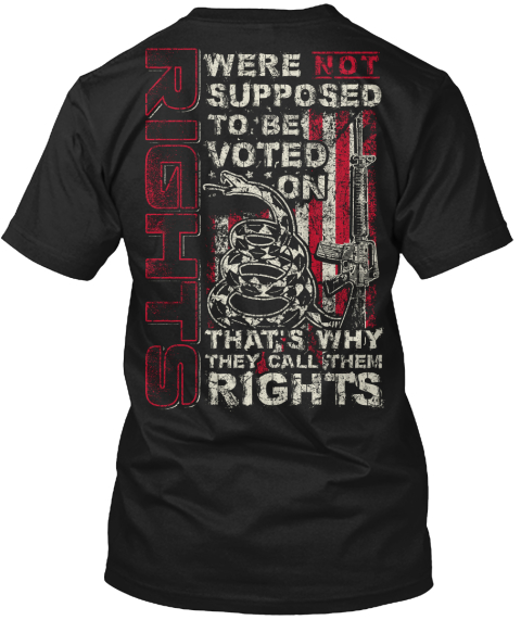Rights Were Not Supposed To Be Voted On That's Why They Call Them Rights Black T-Shirt Back