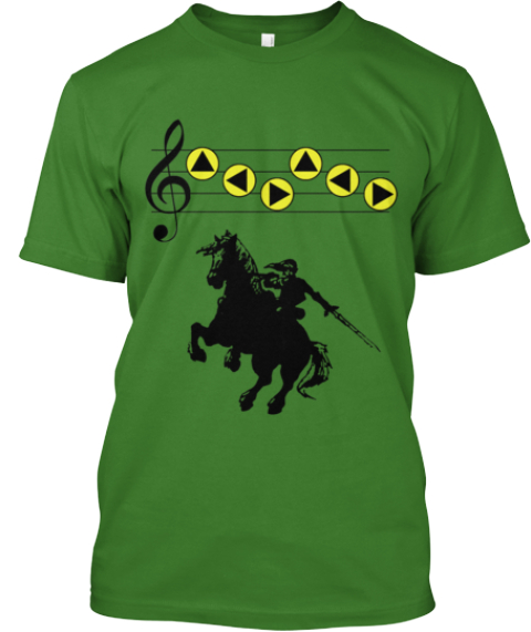Epona's Song Leaf T-Shirt Front