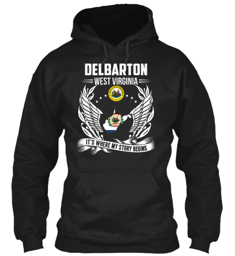 Delbarton West Virginia It's Where My Story Begins Black T-Shirt Front