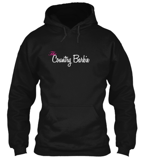 The Country Barbie Black T-Shirt Front