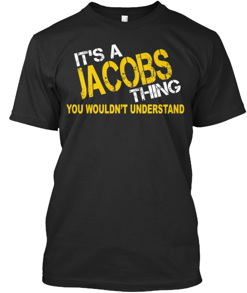 Jacobs Thing [Limited Time Sale] Black T-Shirt Front