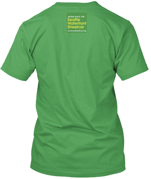 Seattle Waterfront Streetcar T Shirt Leaf T-Shirt Back