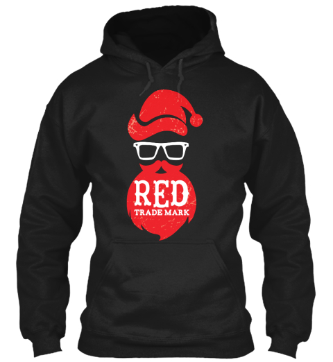 Red Trademark Black T-Shirt Front
