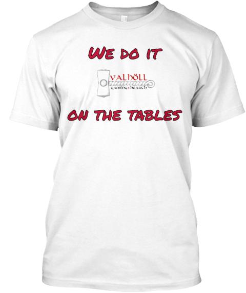 We Do It    On The Tables White T-Shirt Front