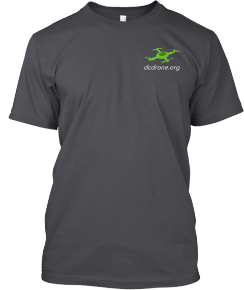 Dc Area Drone User Group T Shirts! Asphalt T-Shirt Front