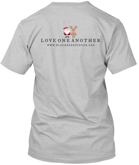 Love One Another Light Heather Grey  T-Shirt Back