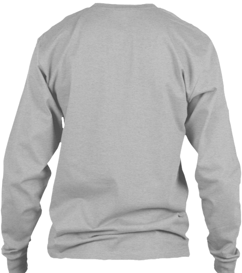 Firefighter Courage Sport Grey Long Sleeve T-Shirt Back